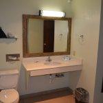 Accessible bathroom vanity.