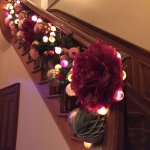 Stairway Decorations Aglow