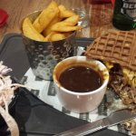 Christmas dinner with Yorkshire pudding waffles