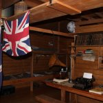 Inside one of the rooms in the Mawson Hut