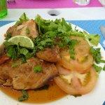 mahi mahi fish and salad