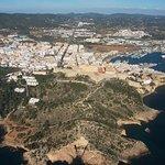 Dalt Villa as seen from the air