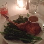 Pork chop with dbl Broccoli Rabe subbed due to diet restrictions, very accommodating.
