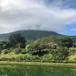 Arenal Volcano covered with clouds