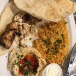 The Chicken Kabob was delicious.  Very moist and tender.  The lentils and onions with beef kabob