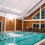 Heated, indoor pool.