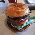 Magic Shroom burger served at Hopdoddy Burger Bar in Tustin, CA