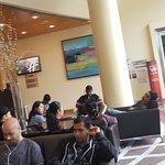 travelers sleeping in the lobby