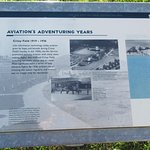 Informative plaque with information about Crissy Field's early days.