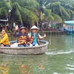 Bamboo fishing boat in Hoi An