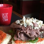 Roast beef at its best with blue cheese.