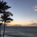 sunset from Lanai Ocean front premium #402