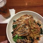 Chicken Almond Salad with a Big Red IPA