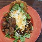 Taco Salad with steak