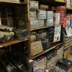 Vintage video game consoles at Yellow Submarine in Den Den Town