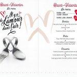 Chers clientes, clients, veuillez trouver ci-joint notre menu de la Saint Valentin valable à par