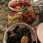 Moules frites and Lobster