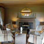 One of the lounge areas in the main house
