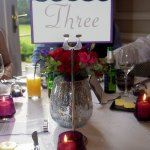 Close up of the tables for our Wedding breakfast