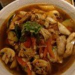 Delicious chicken udon