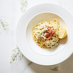 White Crab, Chilli & Garlic Spaghetti with Fresh Lemon