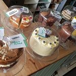 A huge selection of delicious cakes