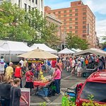 Farmers Market just 1.5 blocks from hotel during summer and early Fall