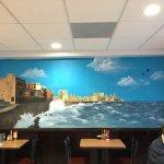 Beautiful acrylic mural at Habanos
