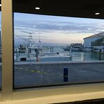 Lovely view of the Atlantic side from the restaurant at sundown.