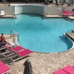 view of the pool from the bridal suite deck