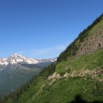 Going to the Sun Road on Side of Mountain