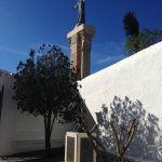 The Christ statues and the monument to Padre Pedro Camps