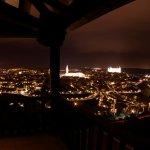 Vista desde el balcón de noche
