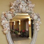 Check out this shell mirror in the lobby - quite unique!