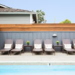 Pool and lounge chairs