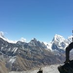Top of the peak at Gokyo Lakes.