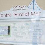 Entre Terre et Mer menu.