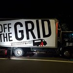 off the grid parked outside museum :)