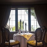 A private room on the upper level of Edgewater Manor, perfect for meetings or as a bridal suite.