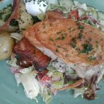 Chicken, Soft Egg, Bacon, Potatoes Salad