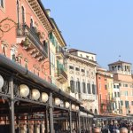 The market near the Verona Arena....