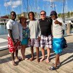 Captain Jason, crew Jordan and Malik and us after a full day of fun!
