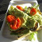 Avocado Toast, Confit Tomatoes, Sourdough