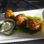 Dungeness Crab & Risotto Croquettes, Pesto, Meyer Lemon Dressing
