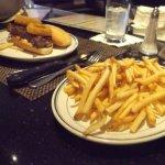 Yummy steak sandwich and fries