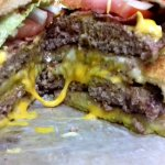 Inside the Triple Grilled Cheese Double Bacon DANKBurger