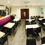 RK Dining seating area located on first floor, available to hire out for private events.