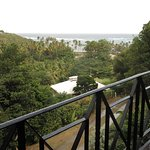 Looking out from the balcony down to Spring Bay