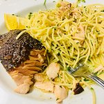 Although everything I've ever had at Luigi's is amazing...this Salmon with white pasta was Heave