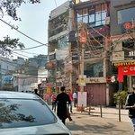 The shops and restaurant at the Hauz Khas village